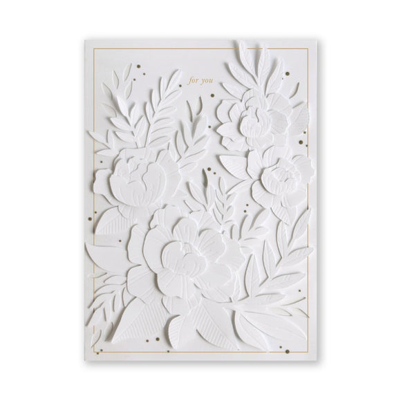 No. 42 White Blossoms Layers Card