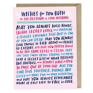 Wishes For You Both Card