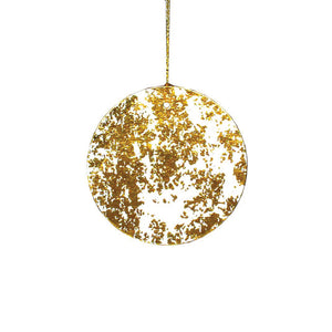 Gold Crush Round Gift Tags, Set of 4