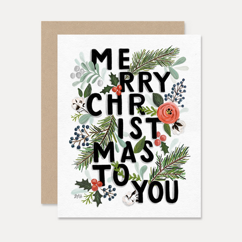 Bold Merry Christmas Cards Boxed Set