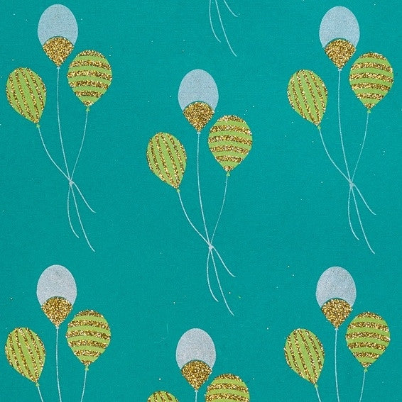 Glitter Balloons Wrapping Sheet