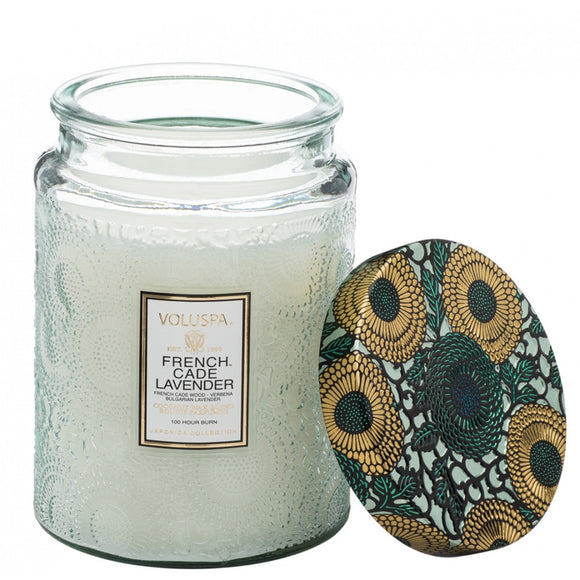 French Cade Lavender Large Jar Candle