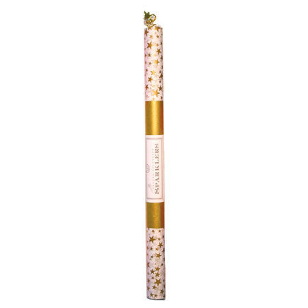 Deluxe Sparklers - White with Gold Stars 14""