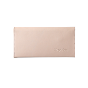 Leather Travel Wallet Clutch - Blush