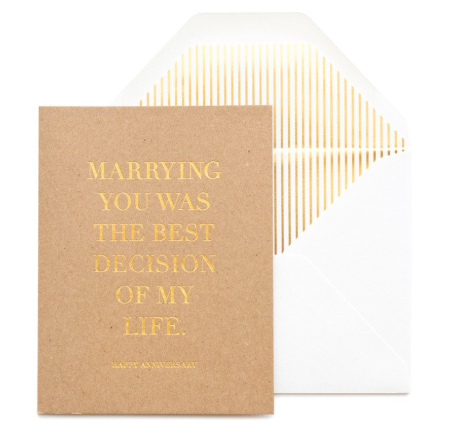 Best Decision Anniversary Card