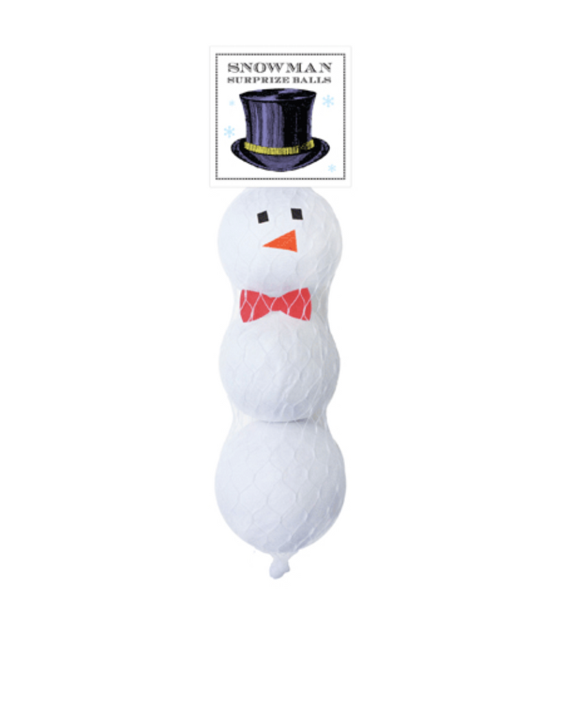 Snowman Mini Surprise Balls 3 Pack