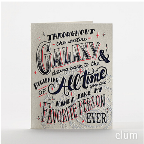 Galactic Favorite Person Card