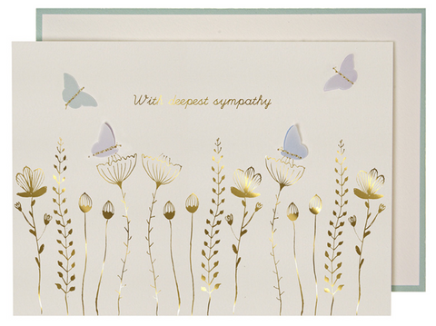 Greeting cards sympathy pom paperie flowers butterflies sympathy card m4hsunfo
