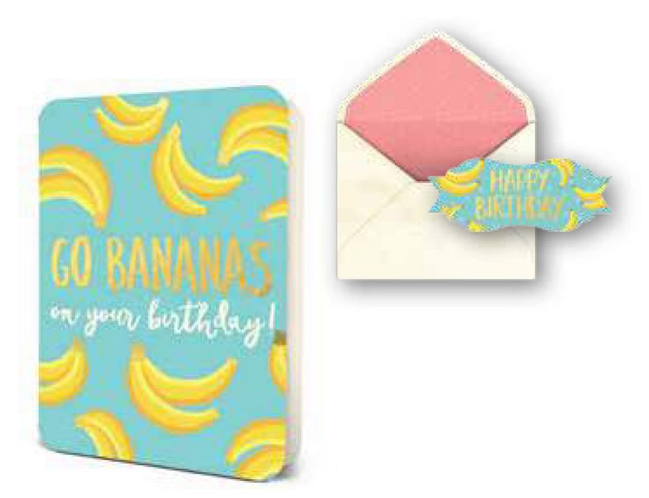 Deluxe Go Bananas Birthday Card