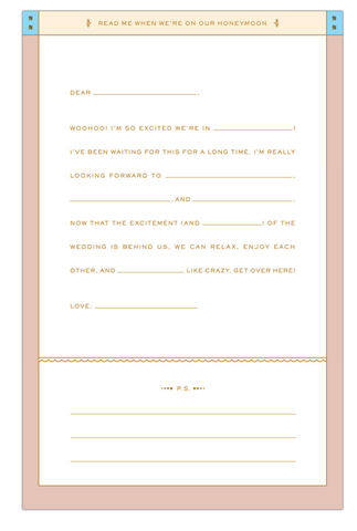 Read Me When Letters You You Before Our Wedding – Pom Paperie