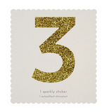 Chunky Gold Glitter Sticker (Numbers or Letters)
