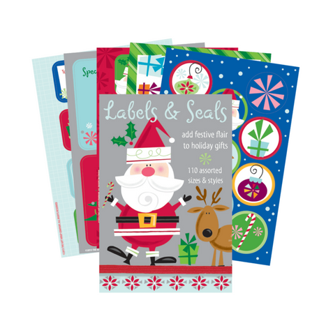 In Santa Style Gift Labels