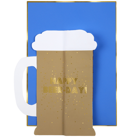 Beer Honeycomb Birthday Card