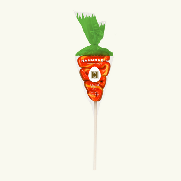 Easter Carrot Orange Cream Lollipop 1.5oz