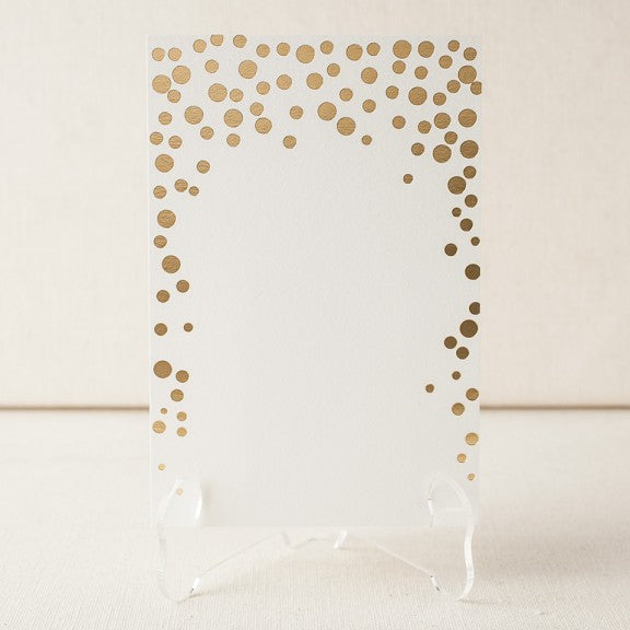 Dots Foil Stamped Table Cards