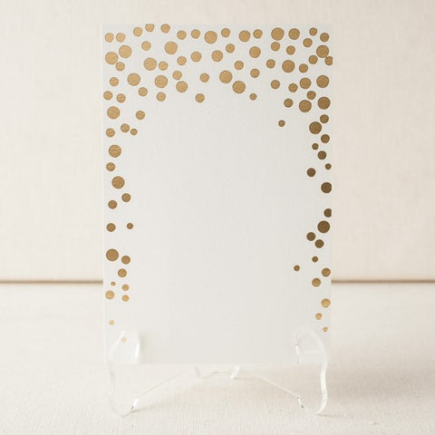 Dots Foil Table Cards - Blank