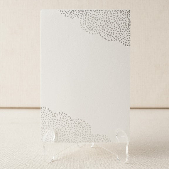 Rainier Foil Stamped Table Cards