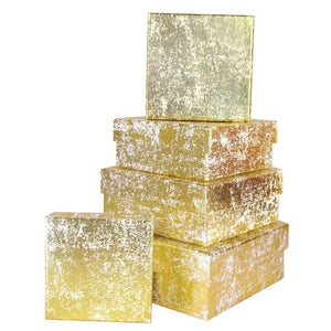Gold Crush Square Gift Boxes