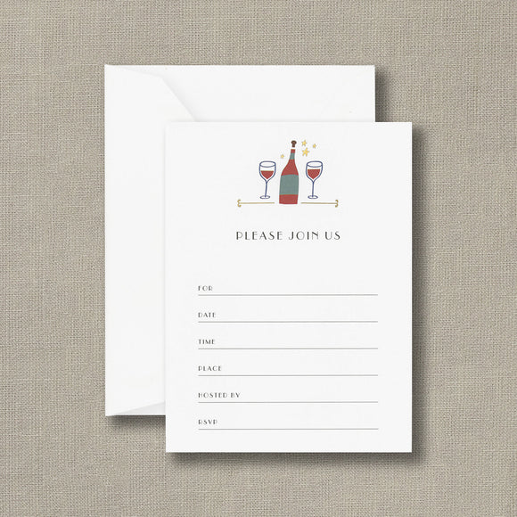 Wine Fill-in Invitations