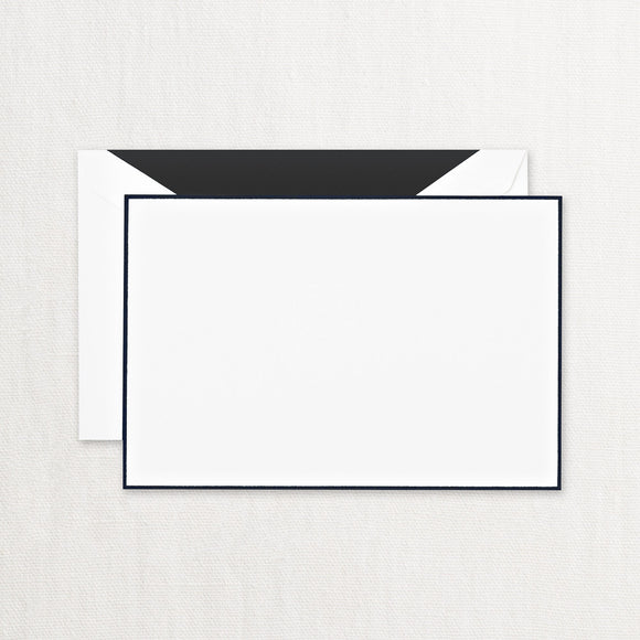 Black Bordered Correspondence Cards