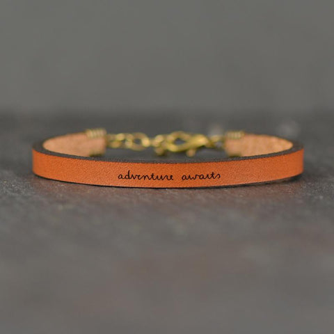 Adventure Awaits Leather Bracelet