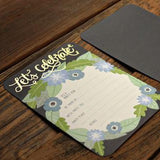 Let's Celebrate Charcoal Floral Invitations