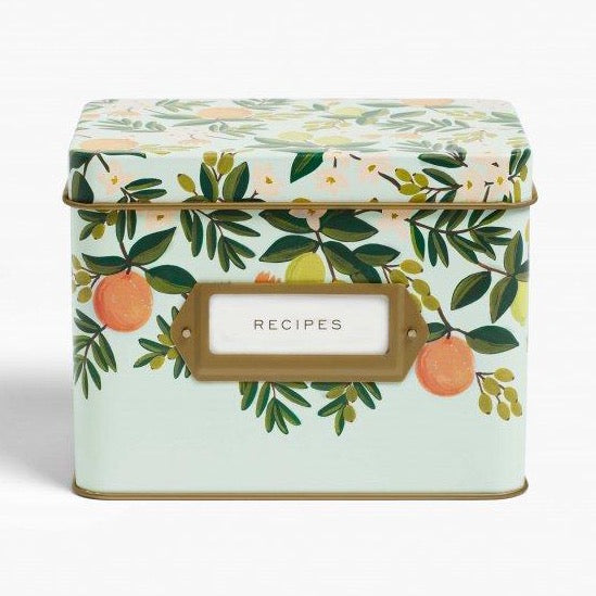 Citrus Floral Recipe Tin