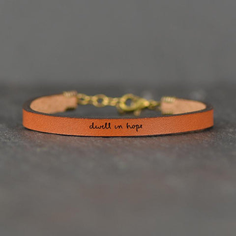 Dwell In Hope Leather Bracelet