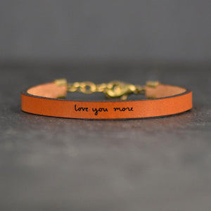 Love You More Leather Bracelet