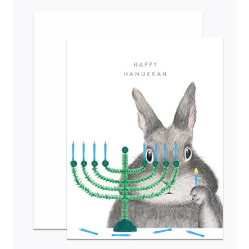 Menorah Bunny Card