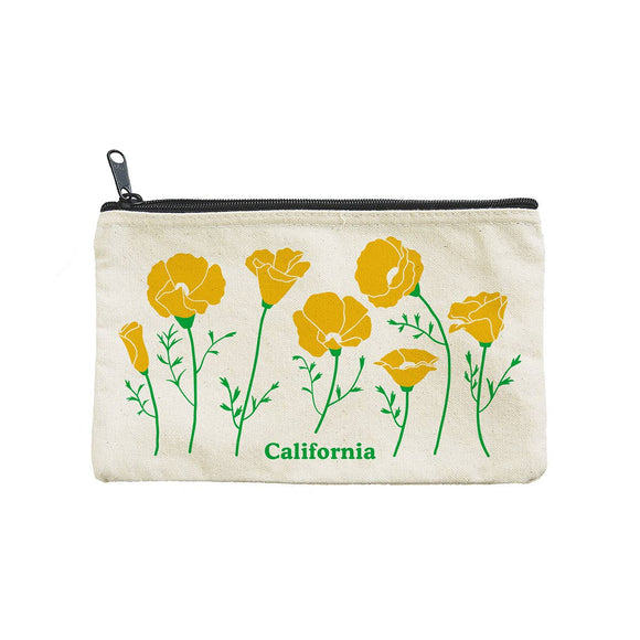 CA Poppies Pouch
