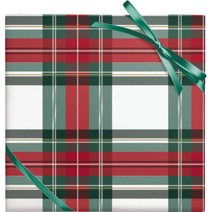 Plaid Stone Paper Roll Wrap
