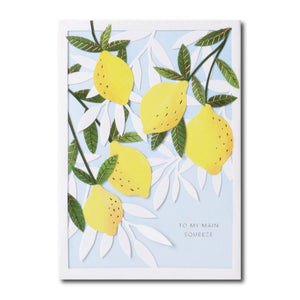 No. 34 Citrus Layers Card