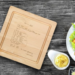 Personalized Recipe Cutting Board
