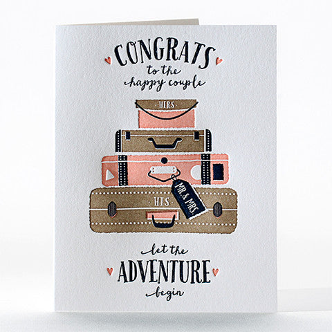 Bon Voyage Wedding Card