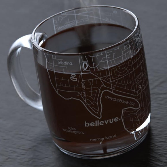 Santa Clarita Maps Glass Mug