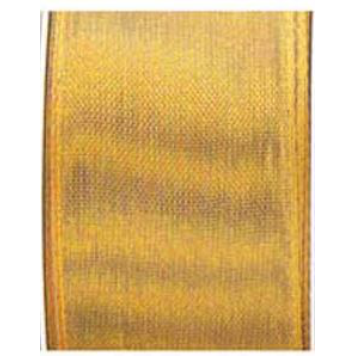 "Gold Wired Edge Sheer Ribbon 1.5"" Roll"