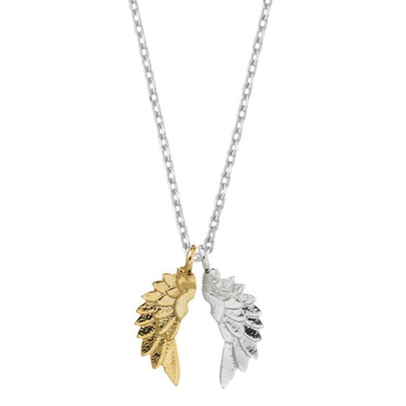 Wings Silver & Gold Plated Necklace