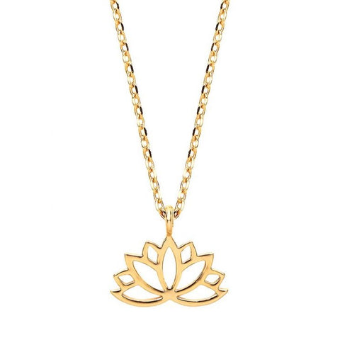 Lotus Flower Gold Plated Necklace