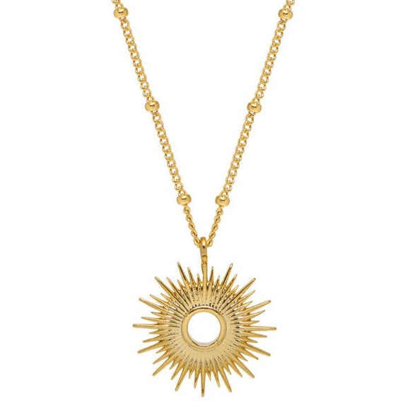 Full Sunburst Necklace - Gold Plated