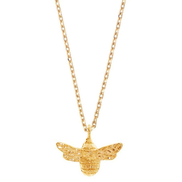 Bee Necklace - Gold Plated