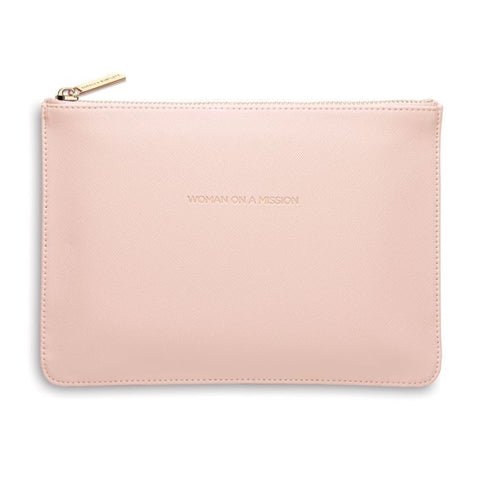 "Blush ""Woman on a Mission"" Medium Pouch"