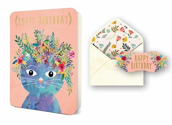 Deluxe Card - Birthday Cat ***