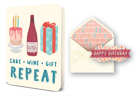 Deluxe Card - Wine Cake Gift
