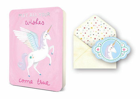 Deluxe Card - Unicorn Wishes ***