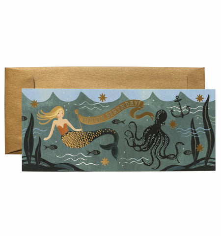 Under The Sea Birthday #10 Money Card