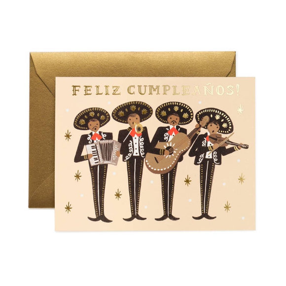 Mariachi Birthday Card ***
