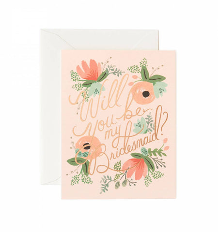 Blushing Bridesmaid Boxed Cards