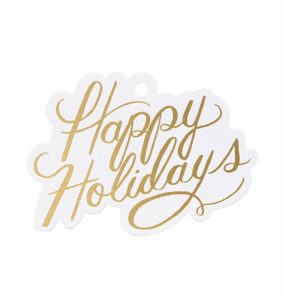 Happy Holidays Die Cut Gift Tags