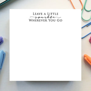 Leave A Little Sparkle Notepad